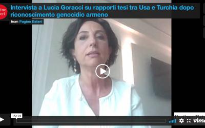 Intervista a Lucia Goracci su rapporti tesi tra Usa e Turchia dopo riconoscimento genocidio armeno